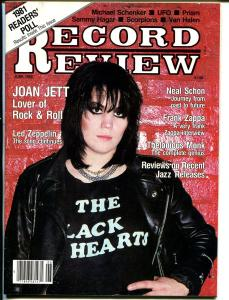 Record Review 6/1982-Joan Jett-Led Zepelin-Frank Zappa-Neal Schon-FN/VF