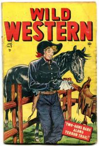 WILD WESTERN #5 1949-MARVEL-BLACK RIDER-KID COLT-BLAZE  G+