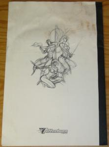 Blood & Roses Convention Sketch Book 2005 afterburn comics