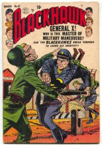 Blackhawk Comics #62 1953- General X- Gengis Khan VG