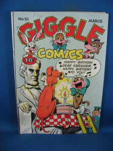 GIGGLE COMICS 51 F+  BLACK CARICATURES LINCOLN CVR 1948