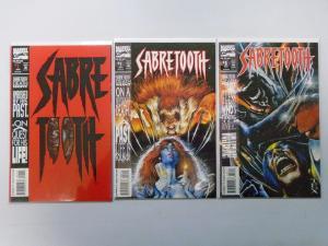 Sabretooth (1993 1st Series) Run:#1-3, 8.0/VF - 1993