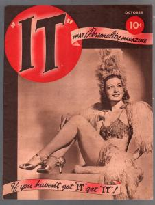 It #1 10/1940-1st Issue-All-Star-cheesecake-pin-ups-Mae West-Hedy LaMarr-VF-