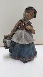 Figura de resina: Campesina 10 cm con una hoz y heno en las manos, 4 mod sur,...