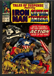 Tales Of Suspense #86 VG- 3.5 Iron Man Captain America! Iron Man
