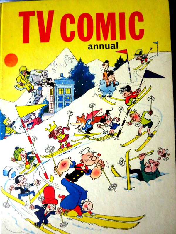 TV COMIC ANNUAL - Set of 11 British Annuals from 1965 to 1979 all F or better