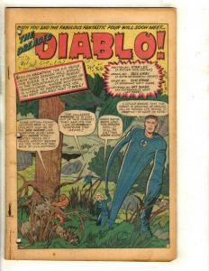 Lot of 6 Coverless Fantastic Four Marvel Comic Books 30 17 23 25 41 32 JF10