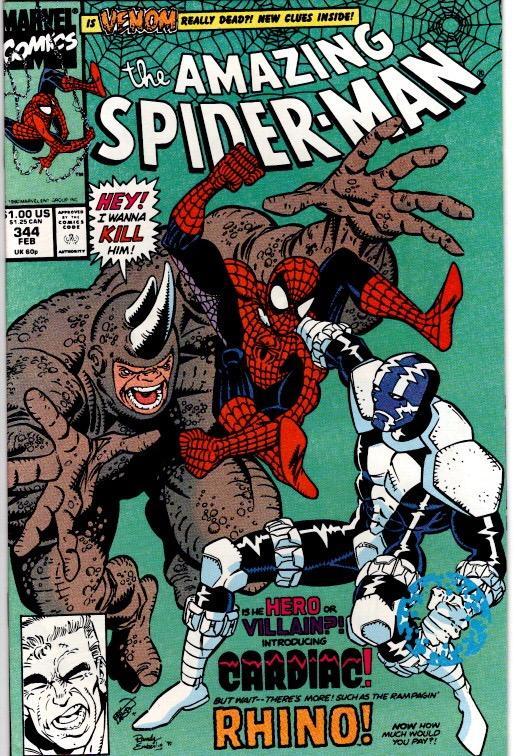 amazing spider man 344 NEAR MINT $12.00