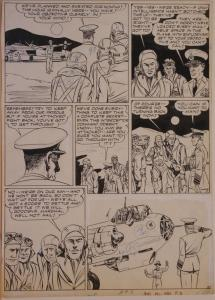 BOB POWELL original art, ALL NEW COMICS #4 pg 2, 1943, Bombs over Berlin, WWII