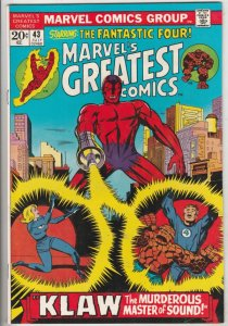 Marvel's Greatest Comics #43 (Jul-73) VF/NM High-Grade Fantastic Four, Mr. Fa...