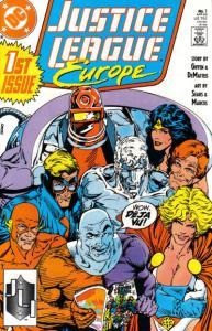 Justice League Europe #1, Fine+ (Stock photo)