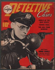 Certified Detective Cases #4 10/1940-motorcycle cop cover-lurid-violent pulp-VF-