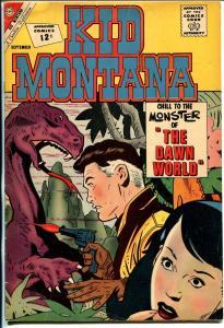 Kid Montana #36 1962-Charlton-Pete Morisi-Wyatt Earp-dinosaur-sci-fi-FN-