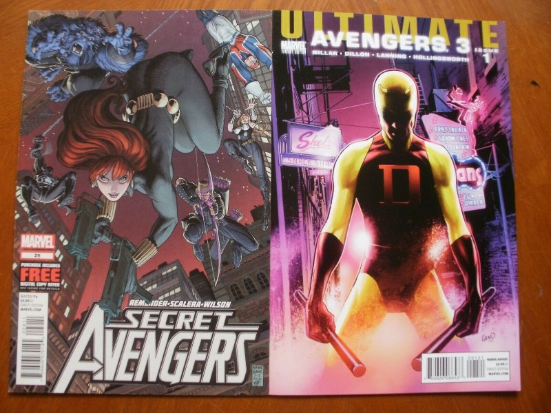 2 Near-Mint Marvel Comic: SECRET AVENGERS #29 (2012) & ULTIMATE AVENGERS 3 #1