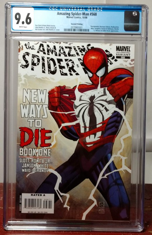 Amazing Spider-Man #568, 2nd Print Variant