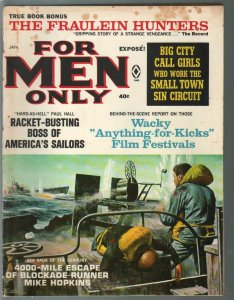 For Men Only 1/1966 Atlas-Mort Kunstler war cover-Bruce Minney-VG-