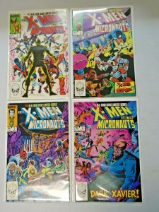 X-Men and the Micronauts Set #1-4 DIR Average 8.0 VF (1984)