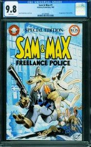 SAM & MAX #1 CGC 9.8-First appearance-comic book 0312094001