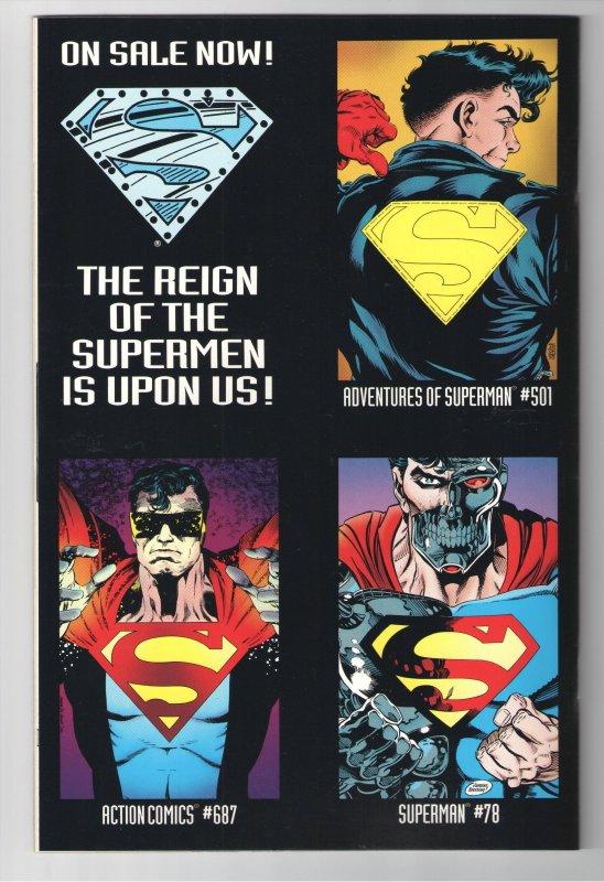SUPERMAN MAN OF STEEL #22 NM 9.6 1ST FULL APP. OF STEEL! + ADV SUPERMAN 500!!