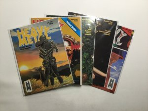 Heavy Metal Magazine 1982 5 Issue Lot Very Fine Vf 8.0 HM Communications