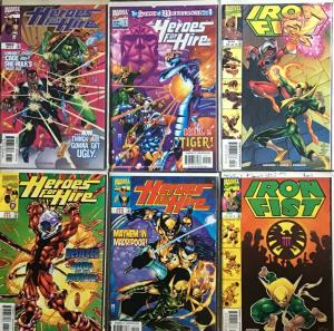 HEROES FOR HIRE/IRON FIST MARVEL #13,15,17,19 IRON FIST #2,3 ALL NM 6 BOOK LOT