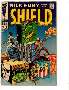 Nick Fury Agent Of SHIELD # 1 FN Marvel Comic Book Avengers Hulk Thor TD6