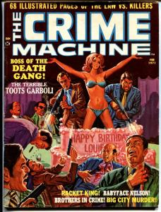 Crime Machine 4/1971-Baby Face Nelson-Bloody violent cover SKYWALD