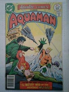 Adventure Comics Comic Book #450 FN+ Aquaman Weather Wizard
