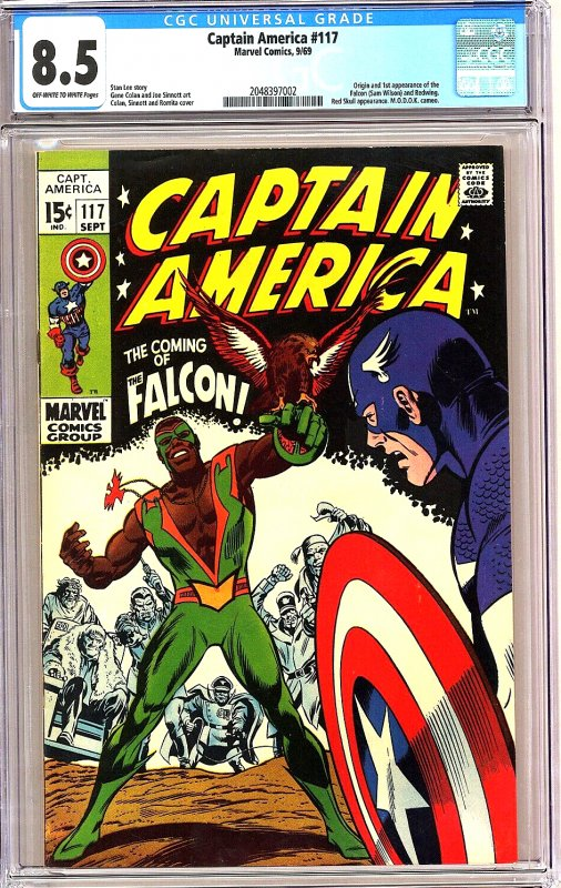 Captain America #117 CGC Graded 8.5 Origin and 1st appearance of the Falcon (...