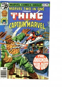 Marvel Two-In-One 45 F/VF   Captain Marvel!