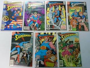 Superman Lot, Run:#400-423, 19 Different, Average 6.0/FN (1984-1986)