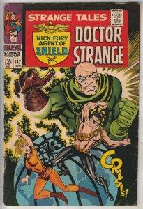 Strange Tales #157 (Jun-67) FN/VF Mid-High-Grade Nick Fury, Dr. Strange