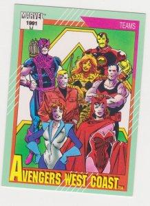 1991 Marvel Universe #152 Avengers West Coast