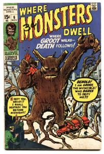 Where Monsters Dwell #6 1st appearance Groot reprint-Marvel comic book