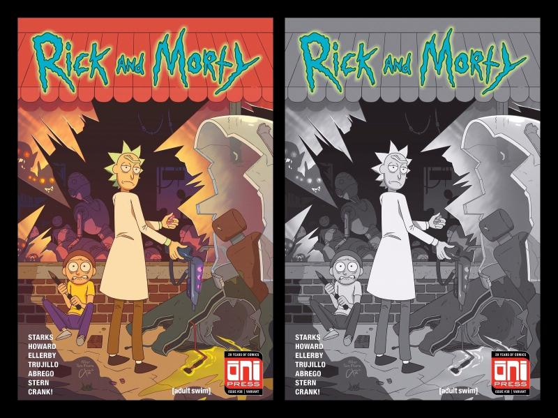 RICK AND MORTY 38 WALKING DEAD 1 VARIANT SET PICKLE CARTOON NETWORK 500 MADE