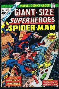 Giant Size Super Heroes #1 ORIGINAL Vintage 1974 Marvel Comics Spider-Man
