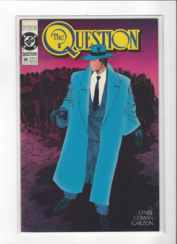 The Question #34 Mature Readers VF/NM Nice Copy
