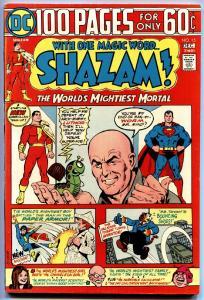 SHAZAM #15-1973-DC-CAPT MARVEL-Lex Luthor-One Hundred Pages-vf/nm
