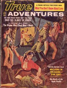 True Adventures 2/1961-Norman Saunders art-spicy cheesecake pix-Nazi Slaves-G
