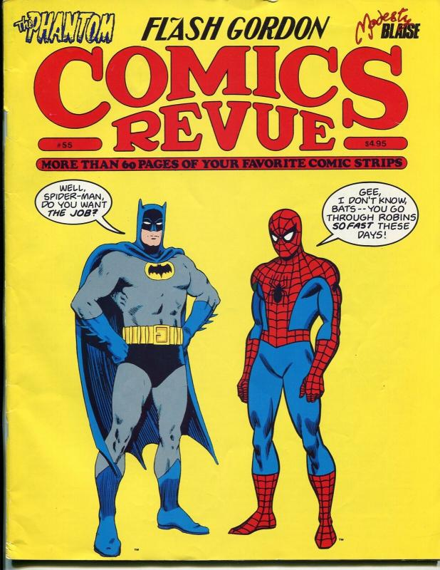 Comics Revue #55 1990-Batman-Spoder-man-Flash Gordon-Modesty Blaise-FN