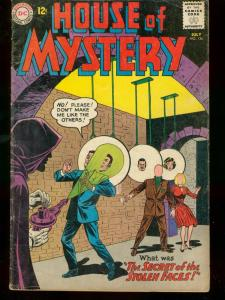 HOUSE OF MYSTERY #136 1963 DC COMICS STOLEN FACES HORRO VG
