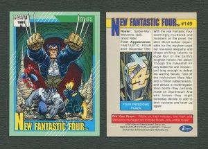 1991 Marvel Comics II  Card  #149 ( New Fantastic Four )  MINT