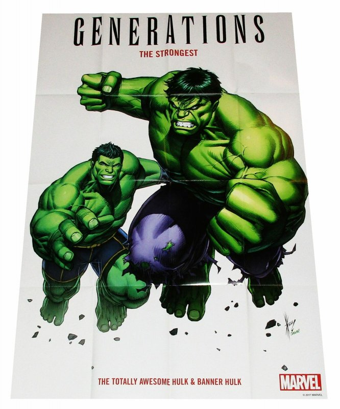 Generations Totally Awesome Hulk Folded Promo Poster (36 x 24) - New!