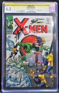 X-men #21 (Marvel, 1966) CGC 6.5 SS Stan Lee