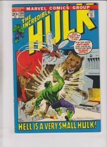 Incredible Hulk #154 FN with ant-man - bronze age marvel comics 1972 - trimpe
