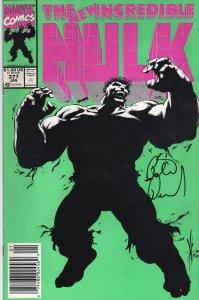 Incredible Hulk #377 Signed by Peter David