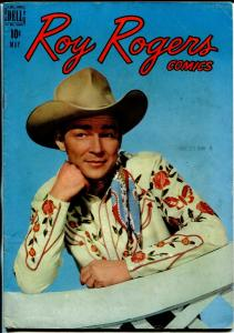 Roy Rogers #17 1949-Dell-photo cover-Haunted Cliffs-FN