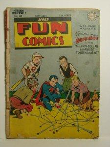 More Fun Comics #105 (DC, Sept-Oct 1945) Early Superboy Green Arrow GD RARE