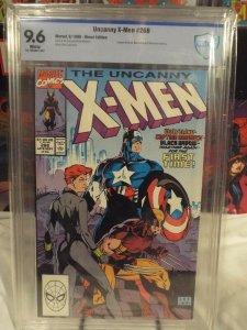 Uncanny X-Men #268 - CBCS 9.6 - White Pages - NM+ Captain America / Black Widow