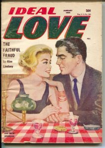 Love Short Stories 2/1958-female pulp authors-pin-up girl cover art-l-rare late